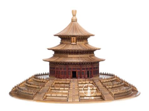 天坮古建模型