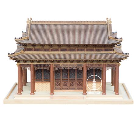 实木古建筑模型
